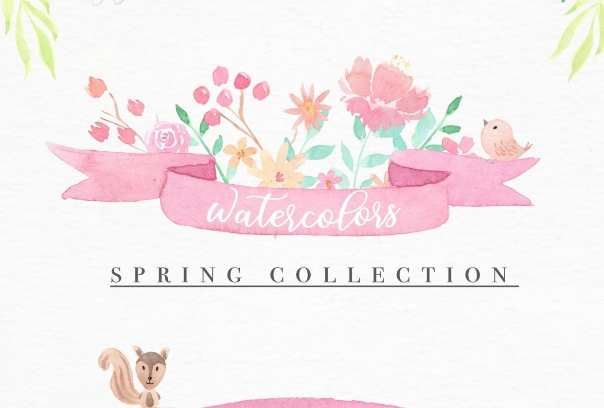 Watercolors Spring Collection - student project