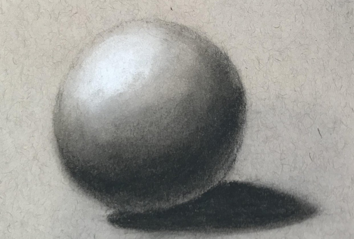 Charcoal Sphere on Toned Paper - student project