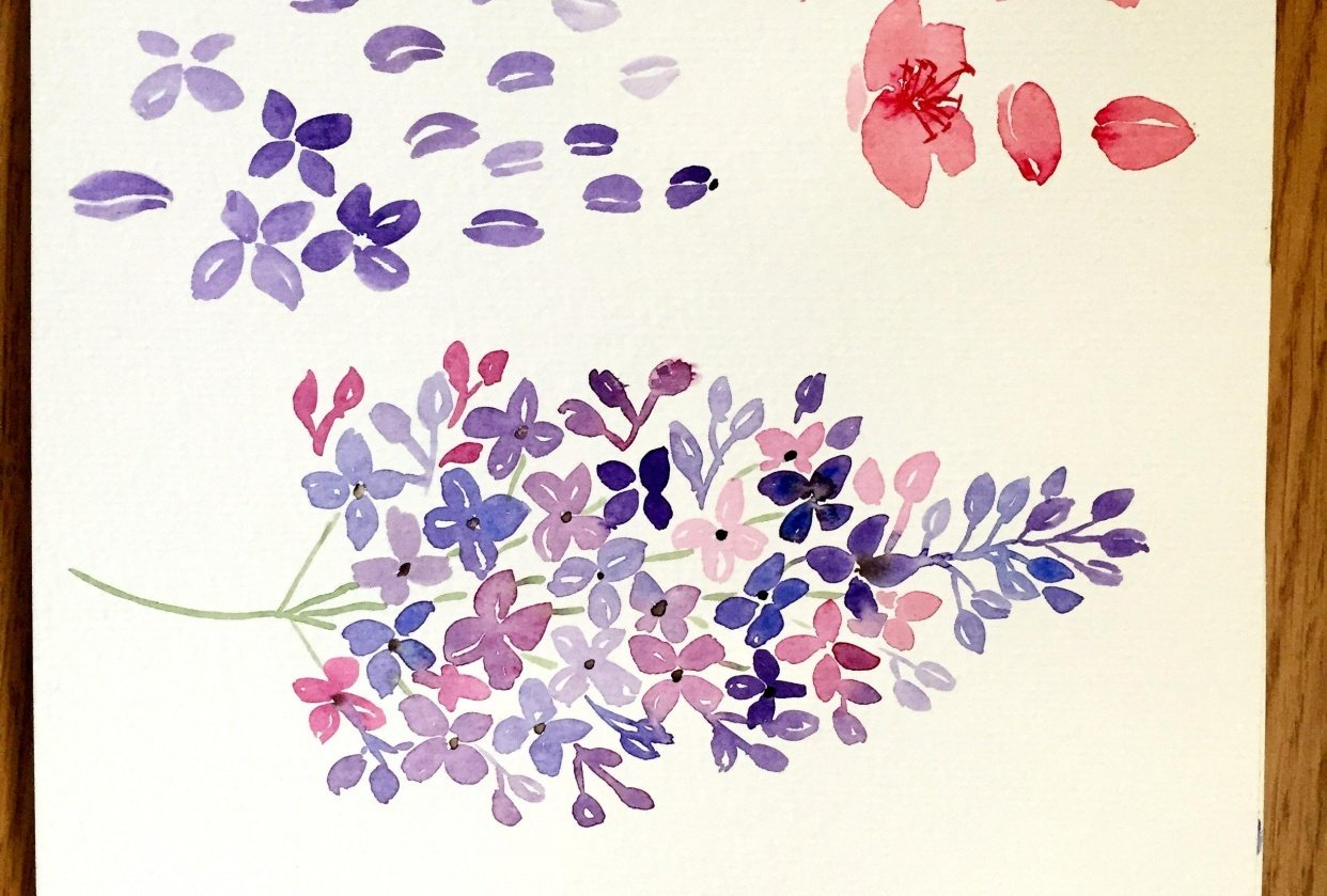 Loose spring florals - student project