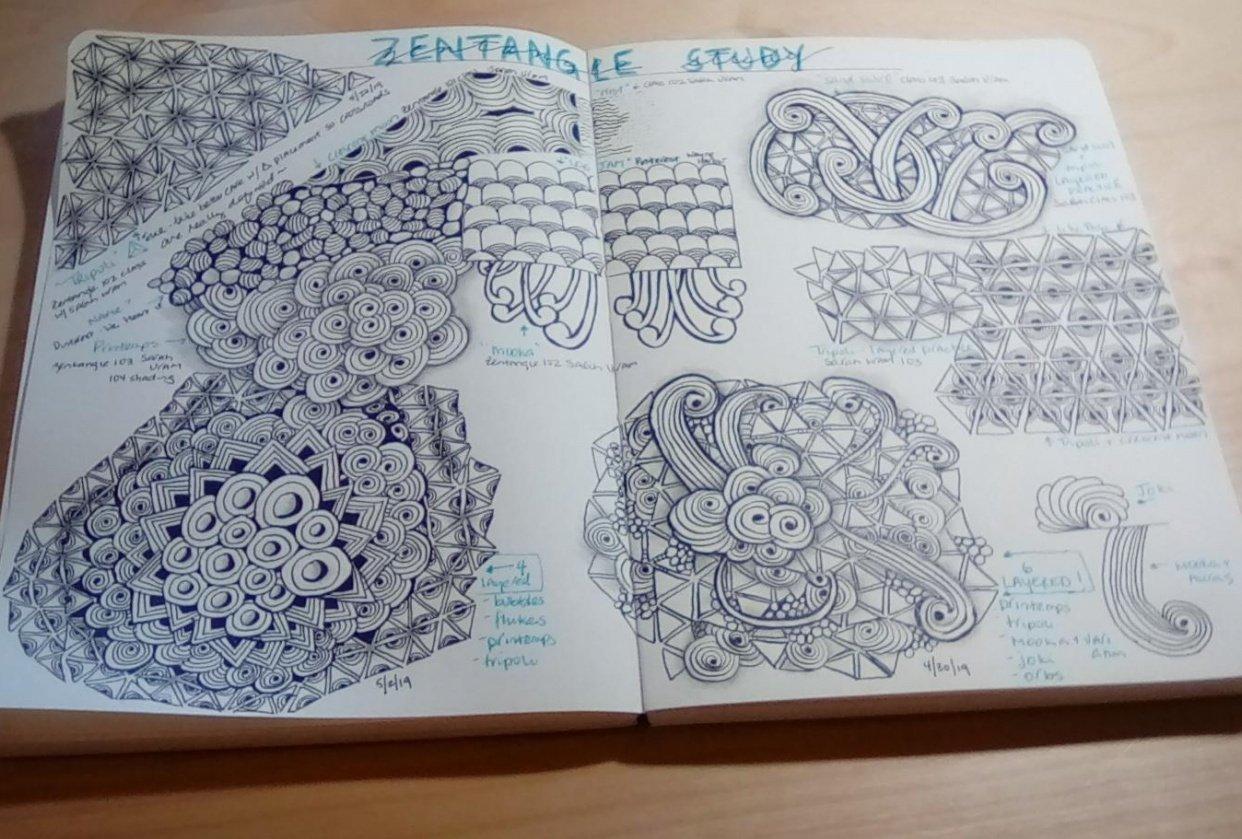 My Zentangle Study - student project