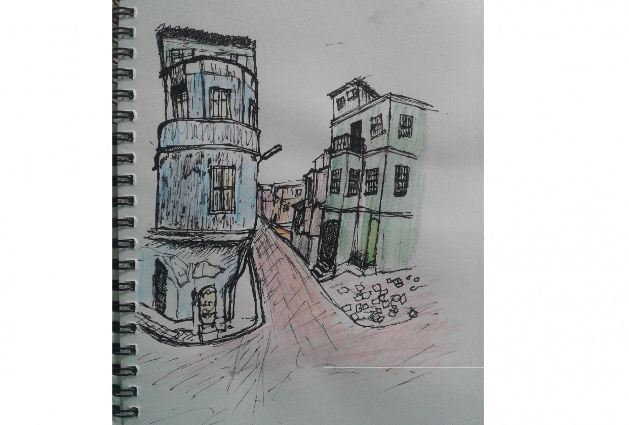 My first Urban Sketch - student project