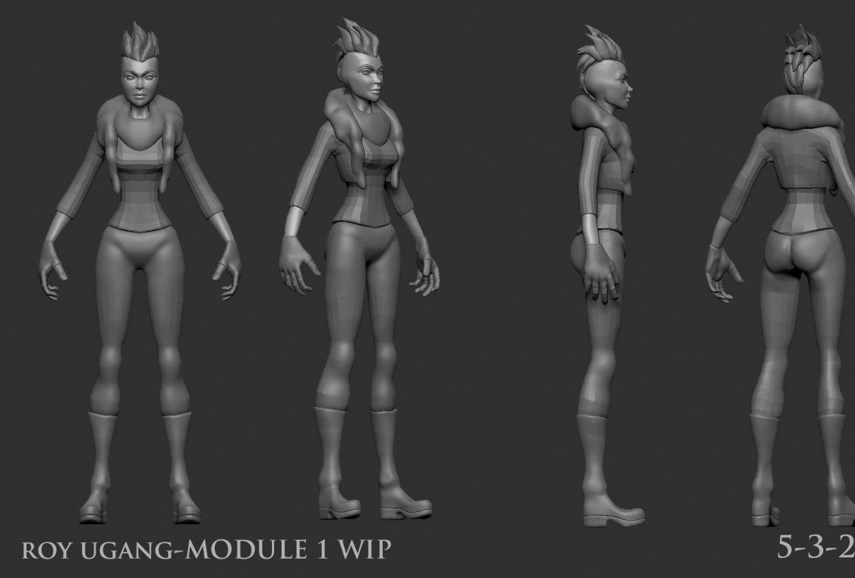 Character Modeling and Texture Class Module 1 - student project