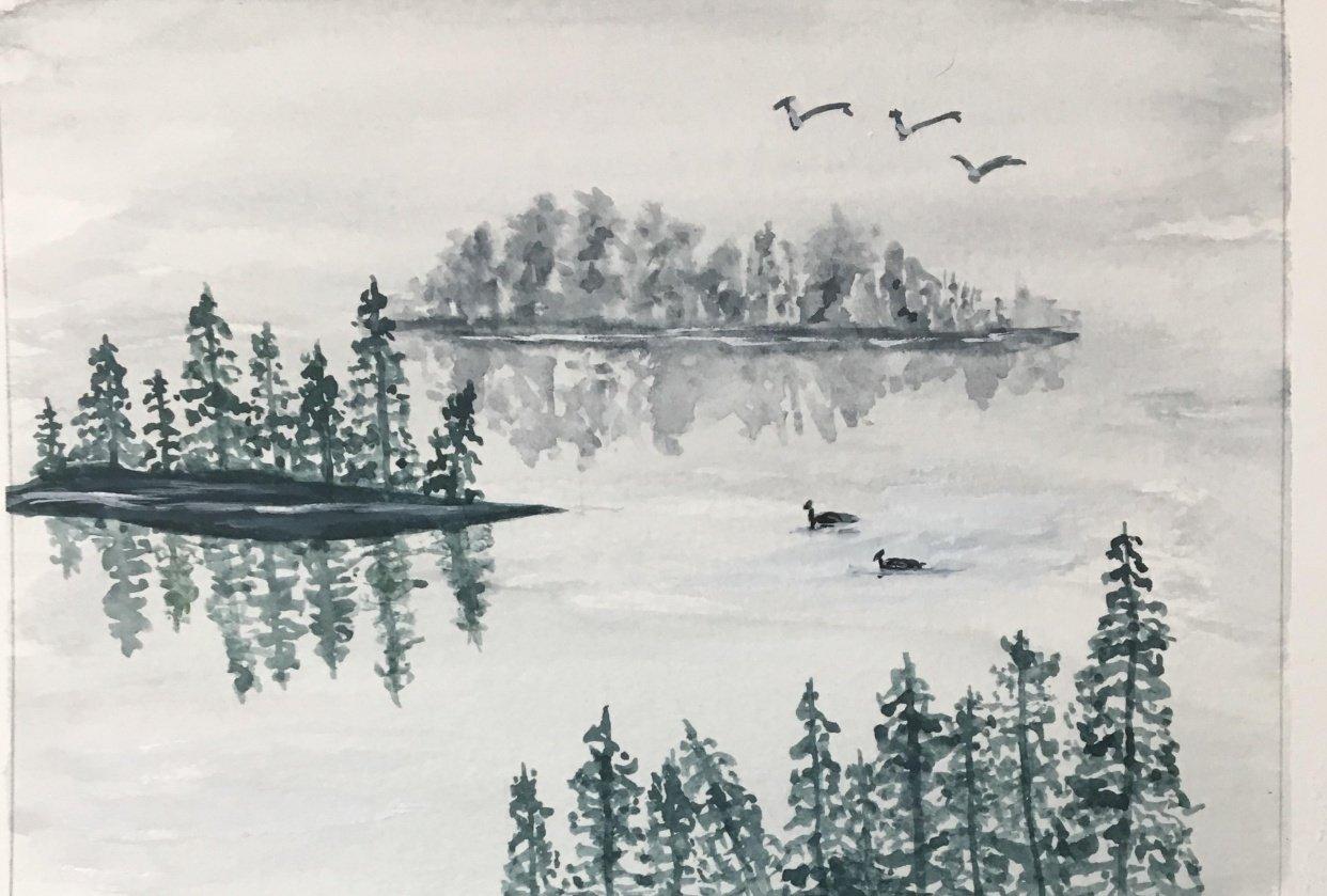 Misty Lake - student project