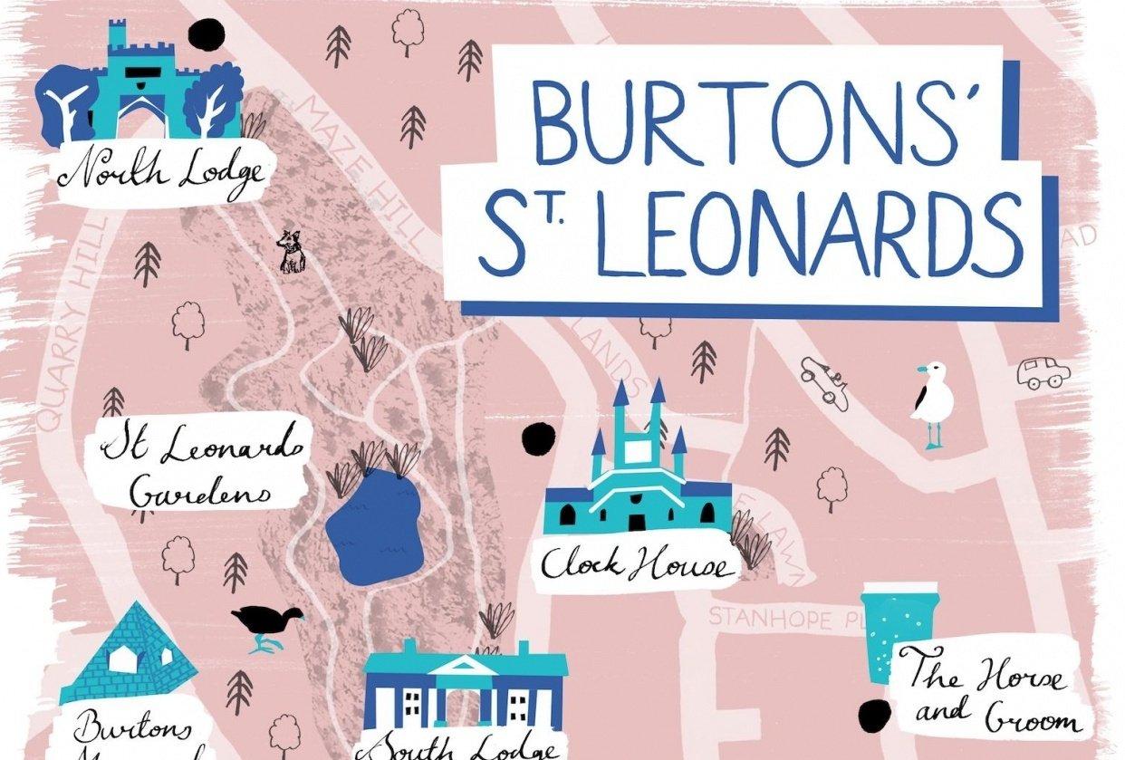 St Leonards Map - student project