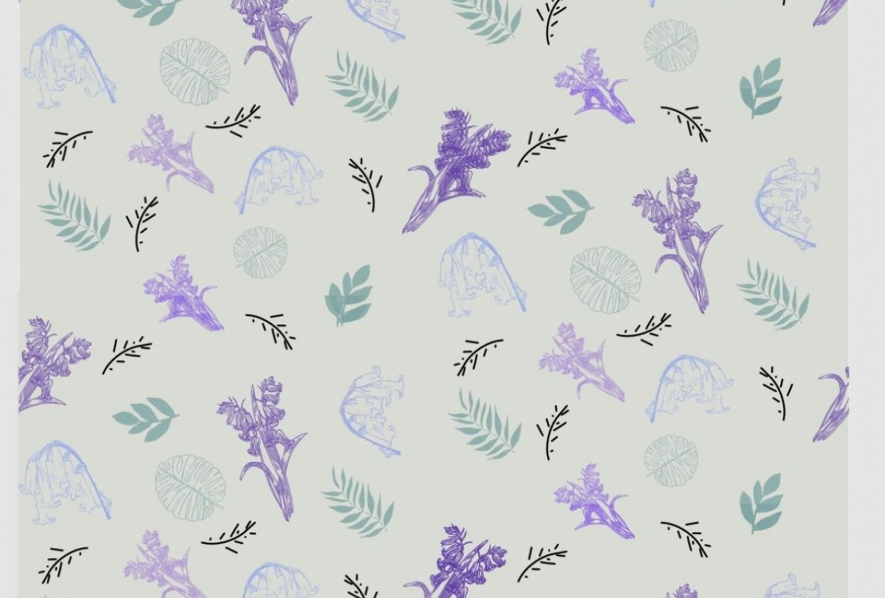 Bluebell Half Drop - student project