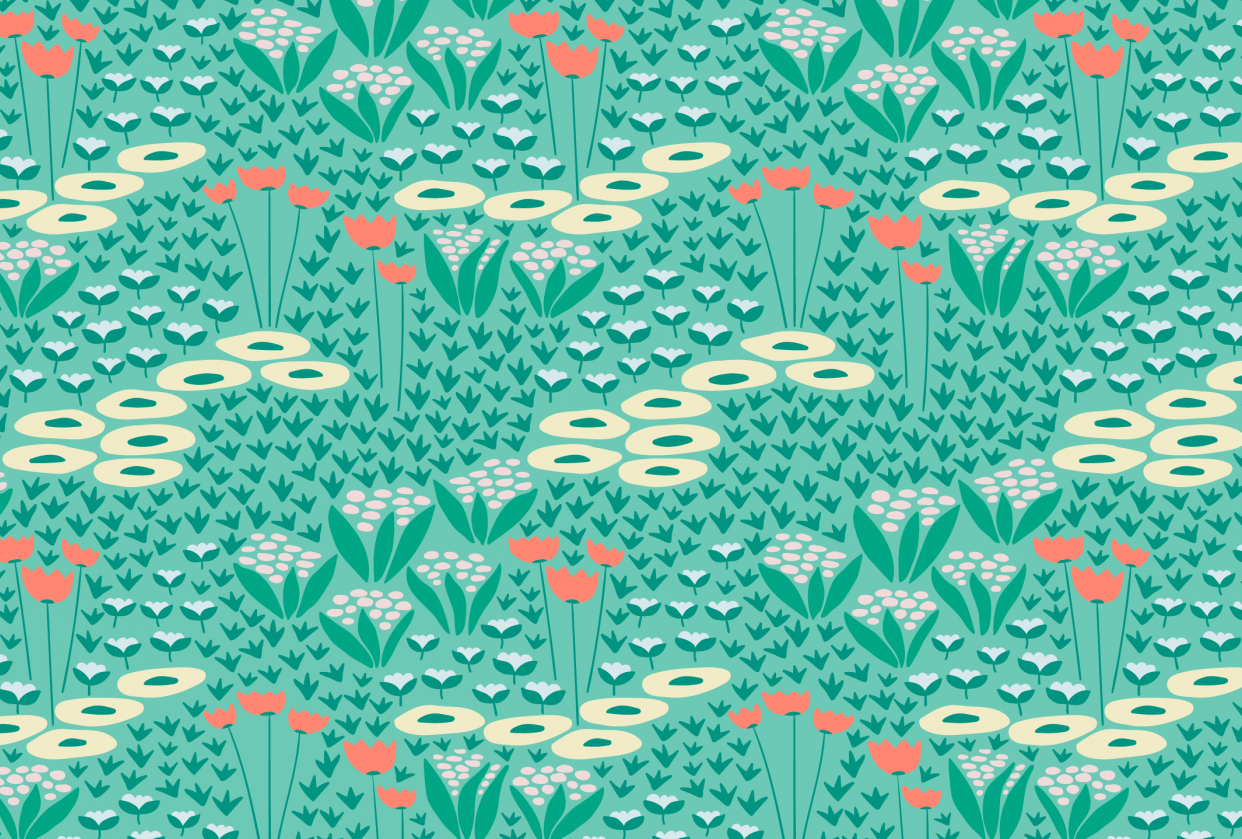 Wildflowers pattern - student project