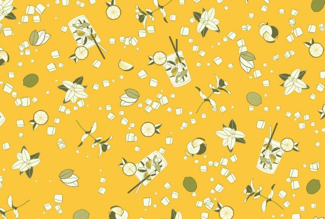 Mojito ditsy pattern - student project