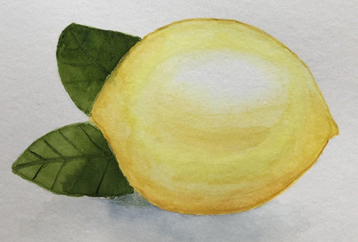 Lemon still life - student project