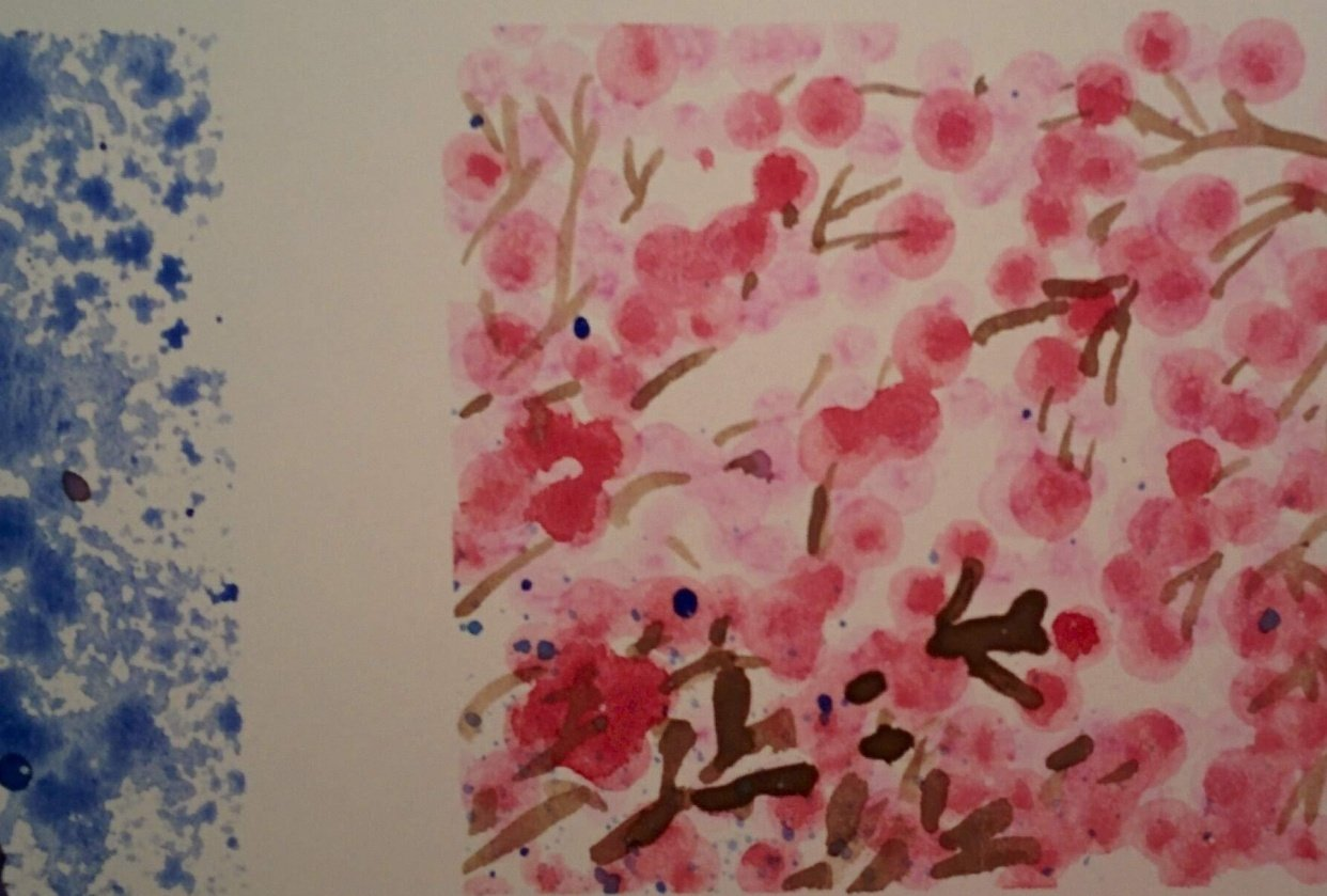 Watercolor effects as shown by Engenia Sudargo - student project