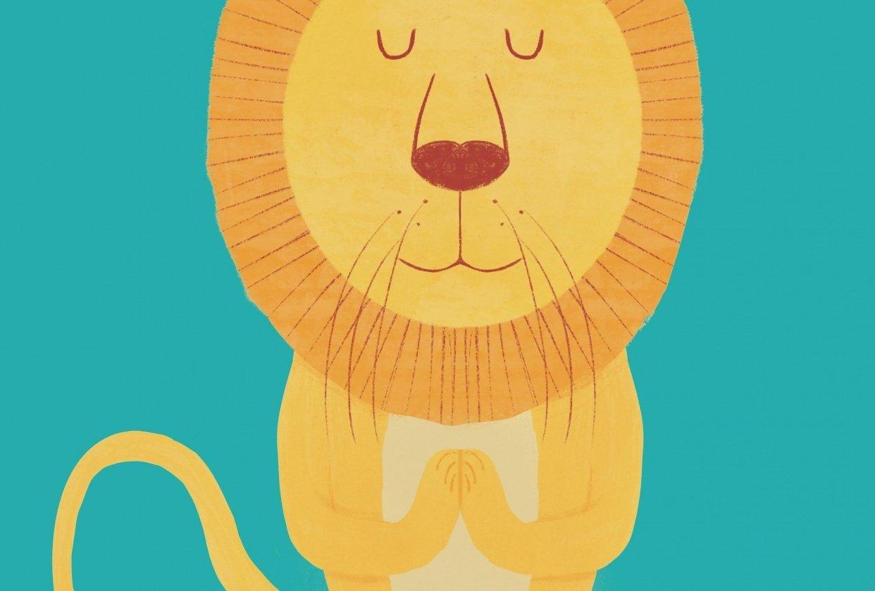 Meditating Lion - student project