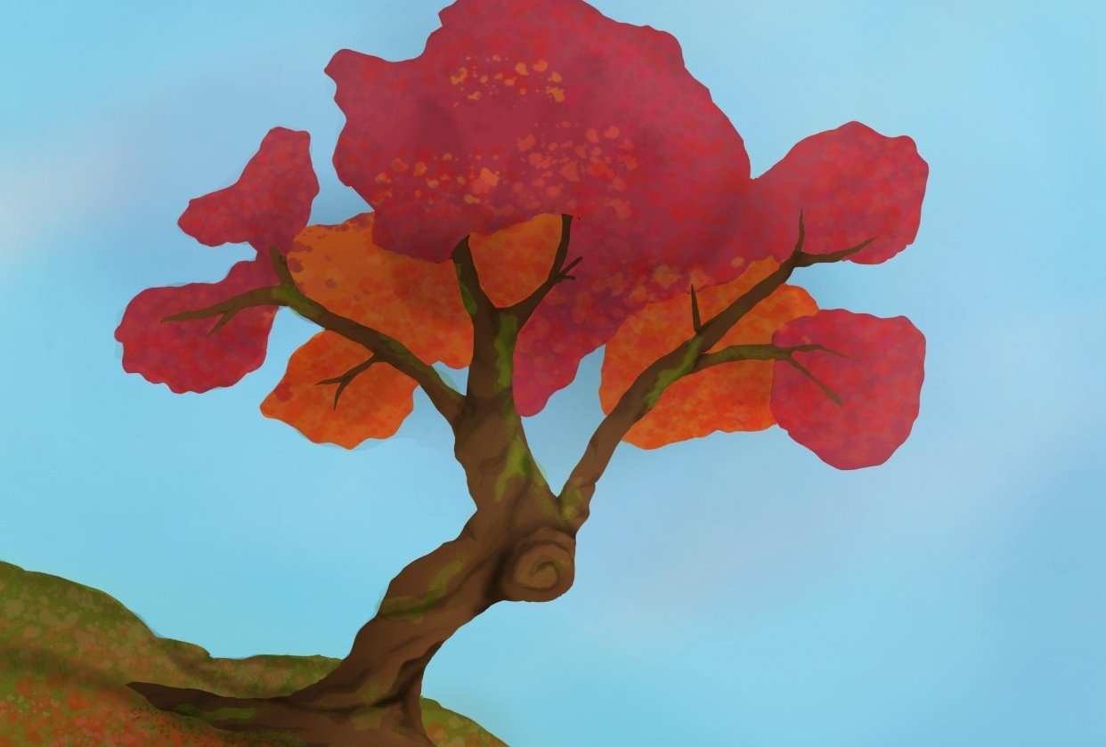 Colourful tree - student project