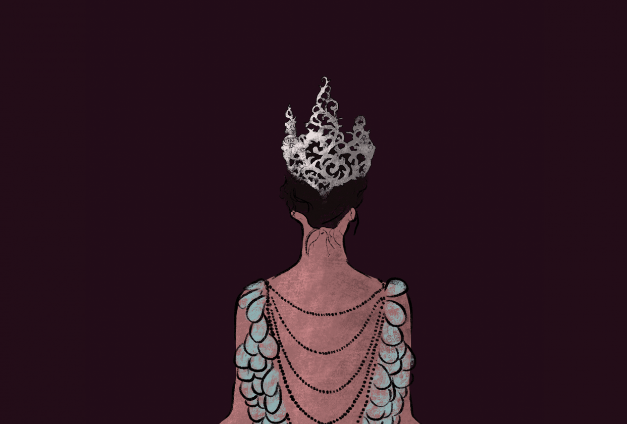 Queen digital painting - student project