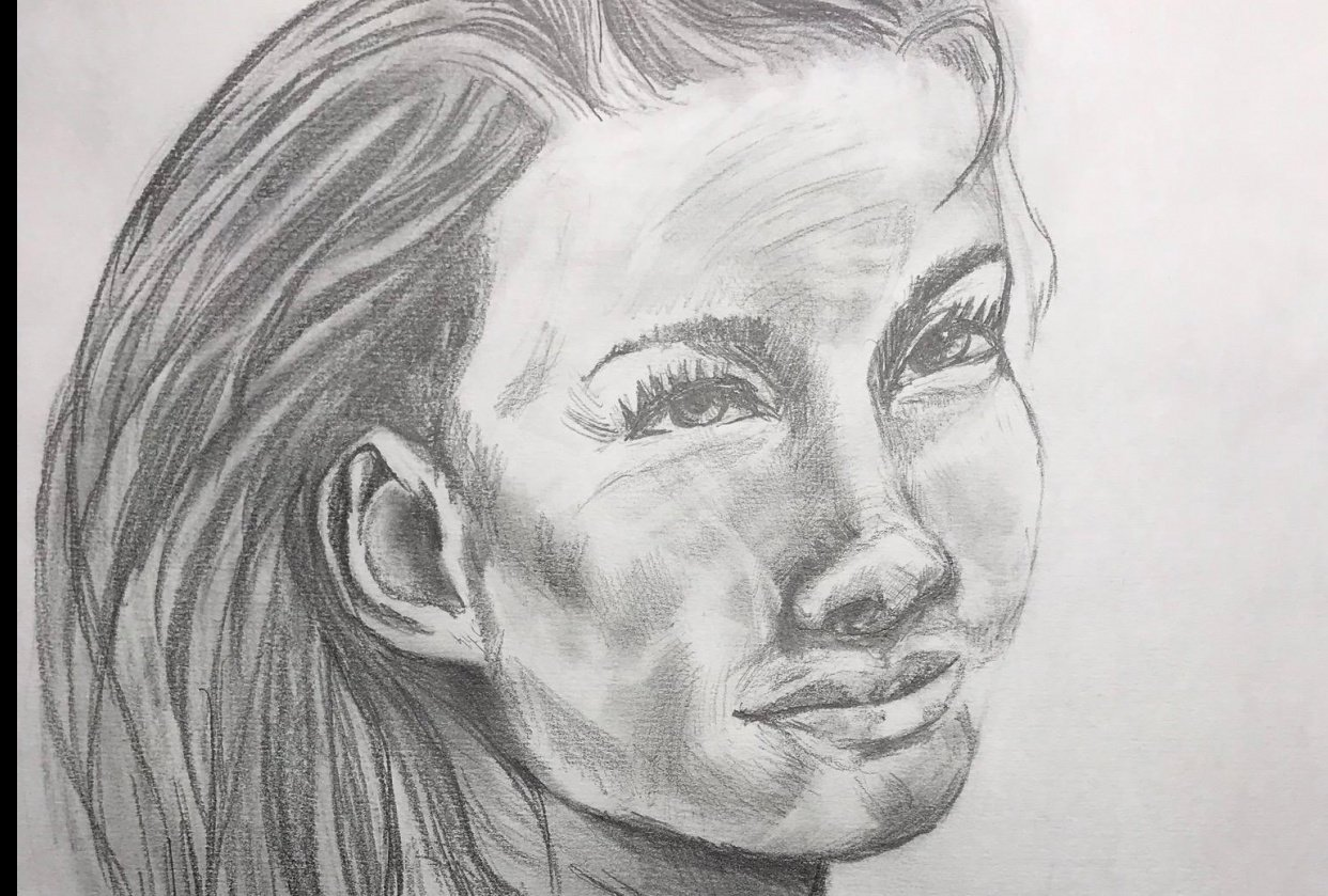 Portraiture Drawing - student project