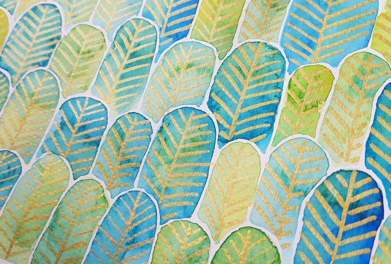 Feather Forest Pattern - student project