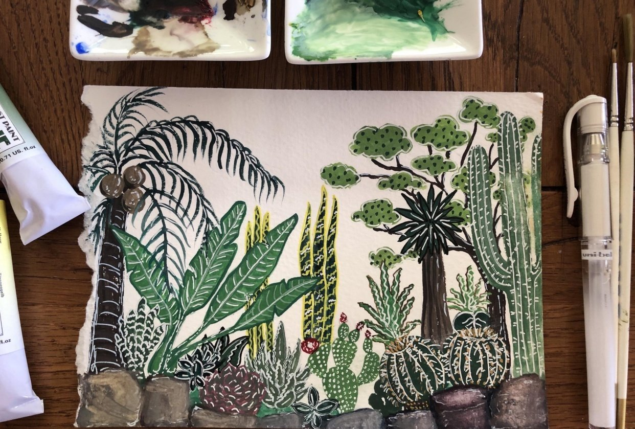 My gouache jungle - student project