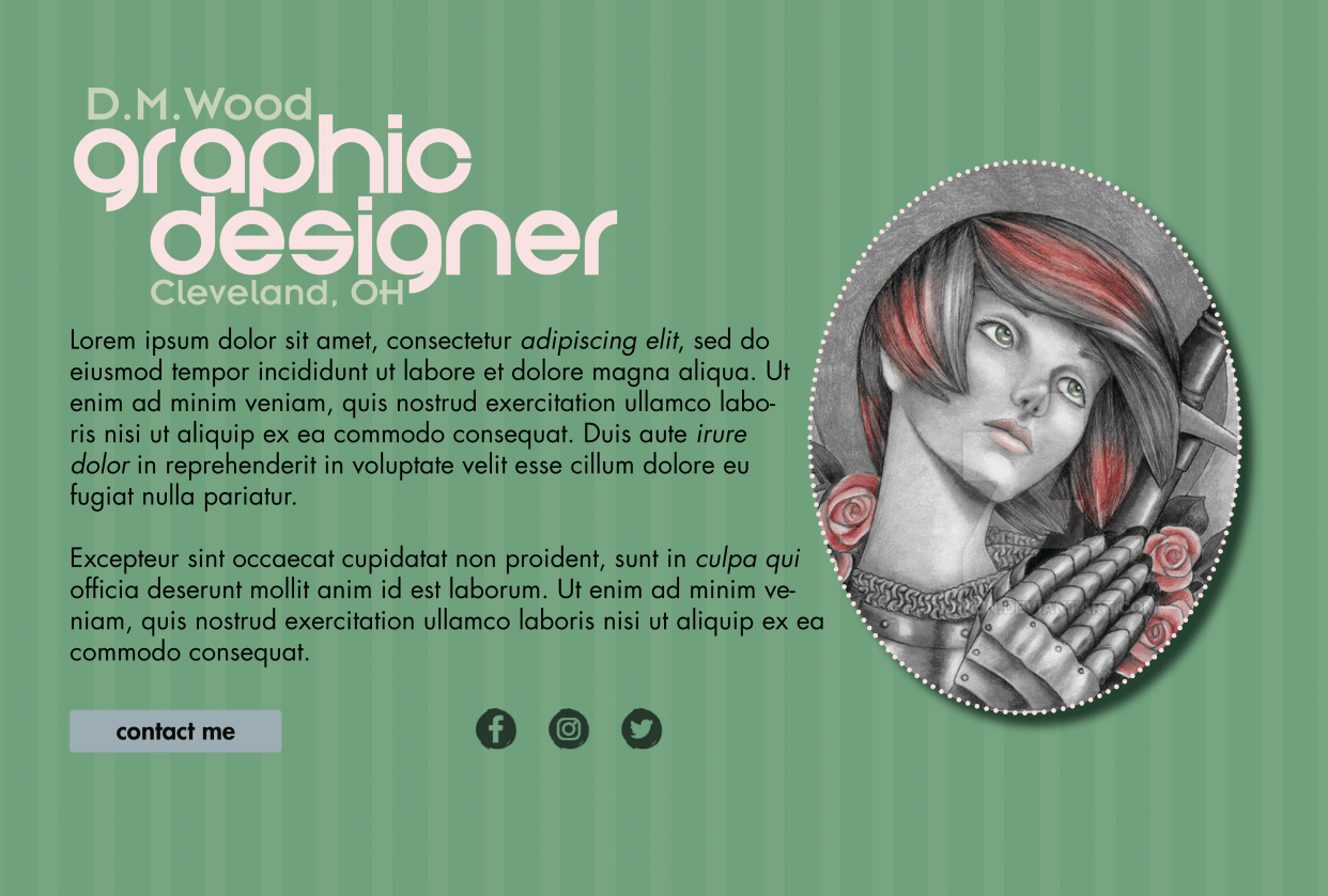 Web Typography Project - student project