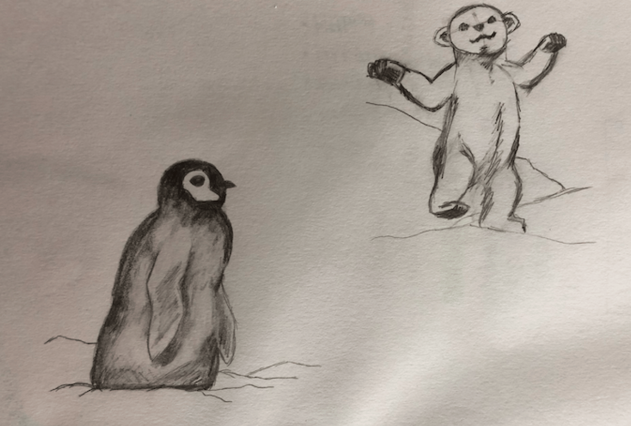 Cute animal sketches - student project