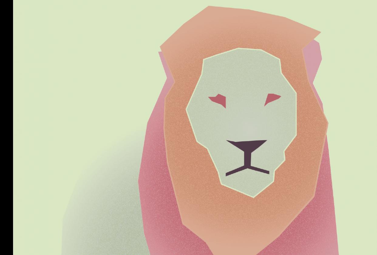 Minimalist Lion - student project