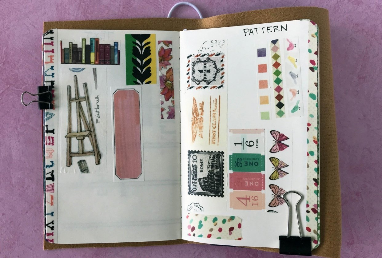 """Washi Tape Swatch Page on """"Patterns"""" - student project"""
