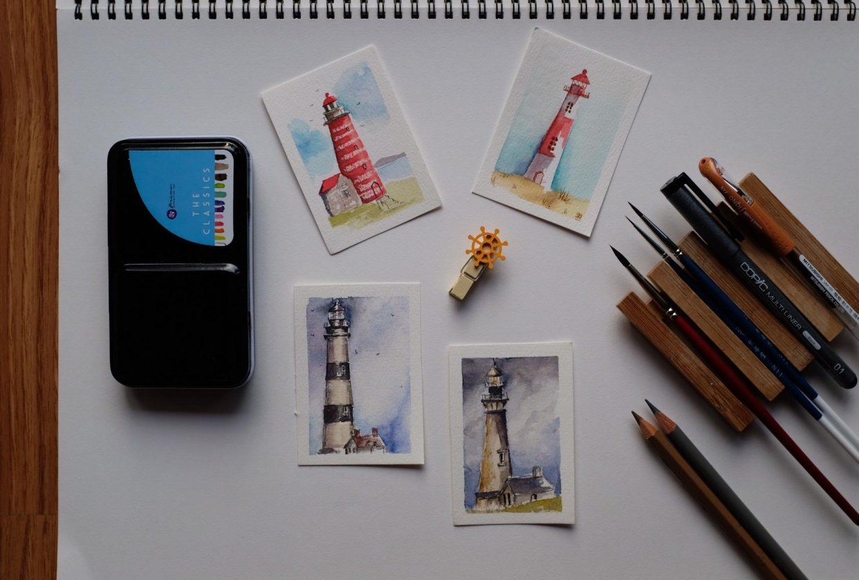 Mini Lighthouses - student project