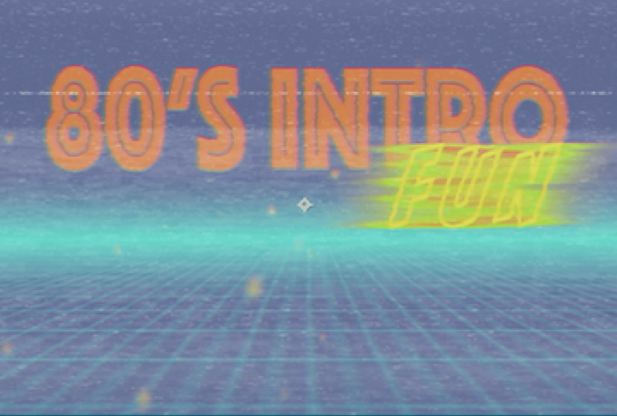 80's intro - student project