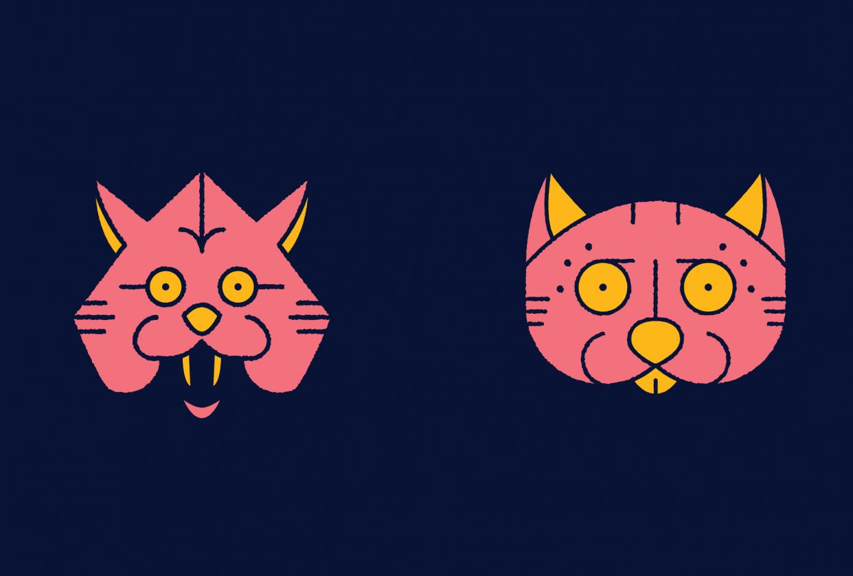 Monoline Cats & Skulls - student project