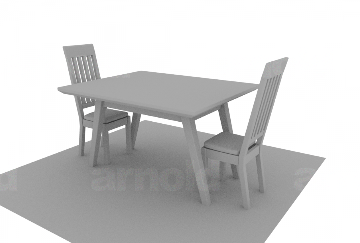 Table and Chairs - student project