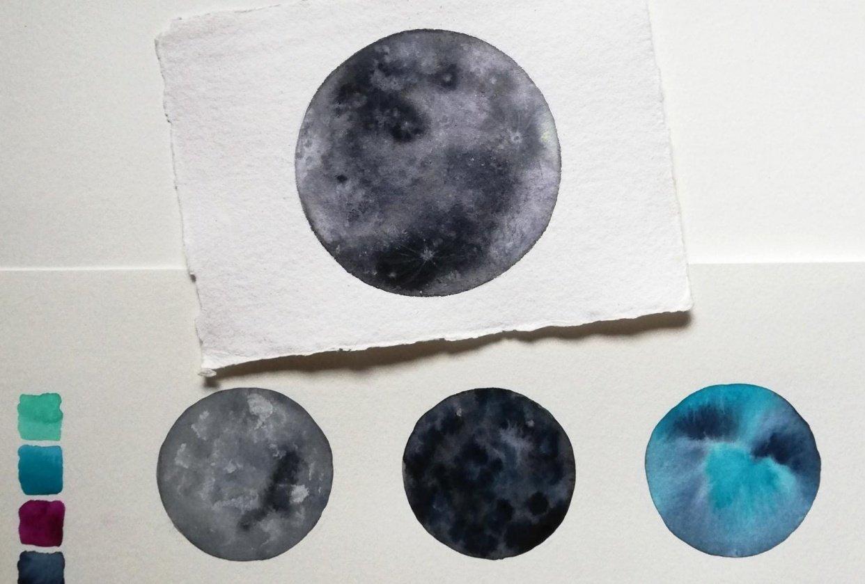 my moon studies - student project