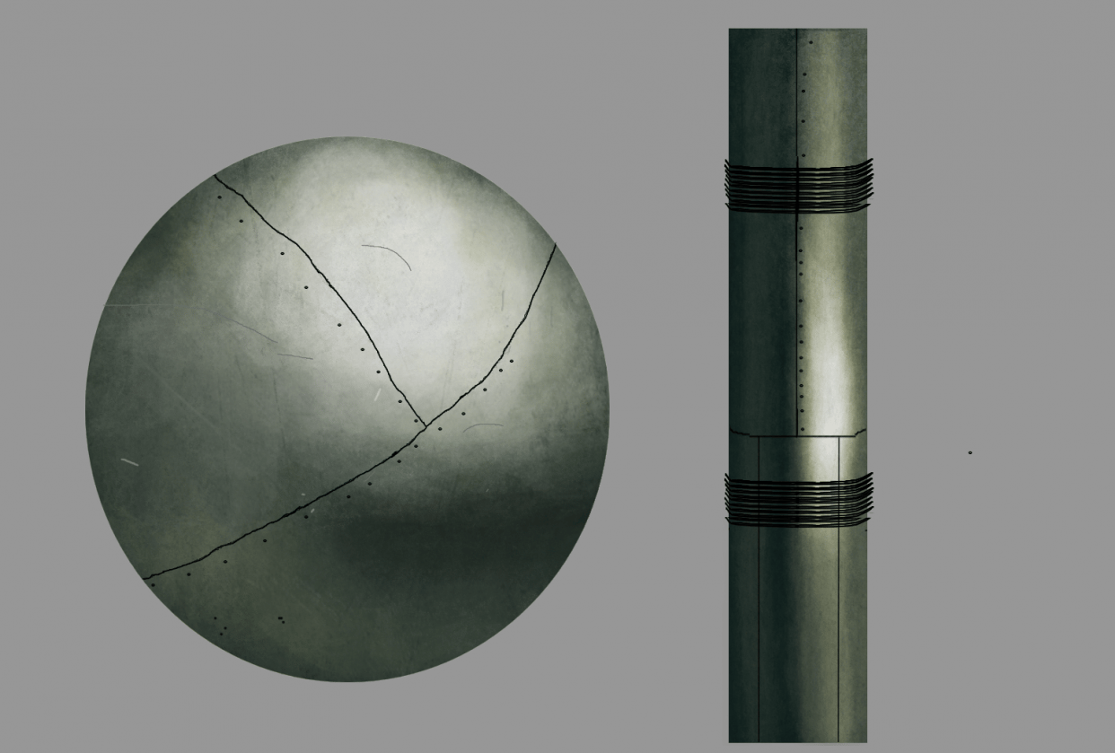 My first metal rendering - student project