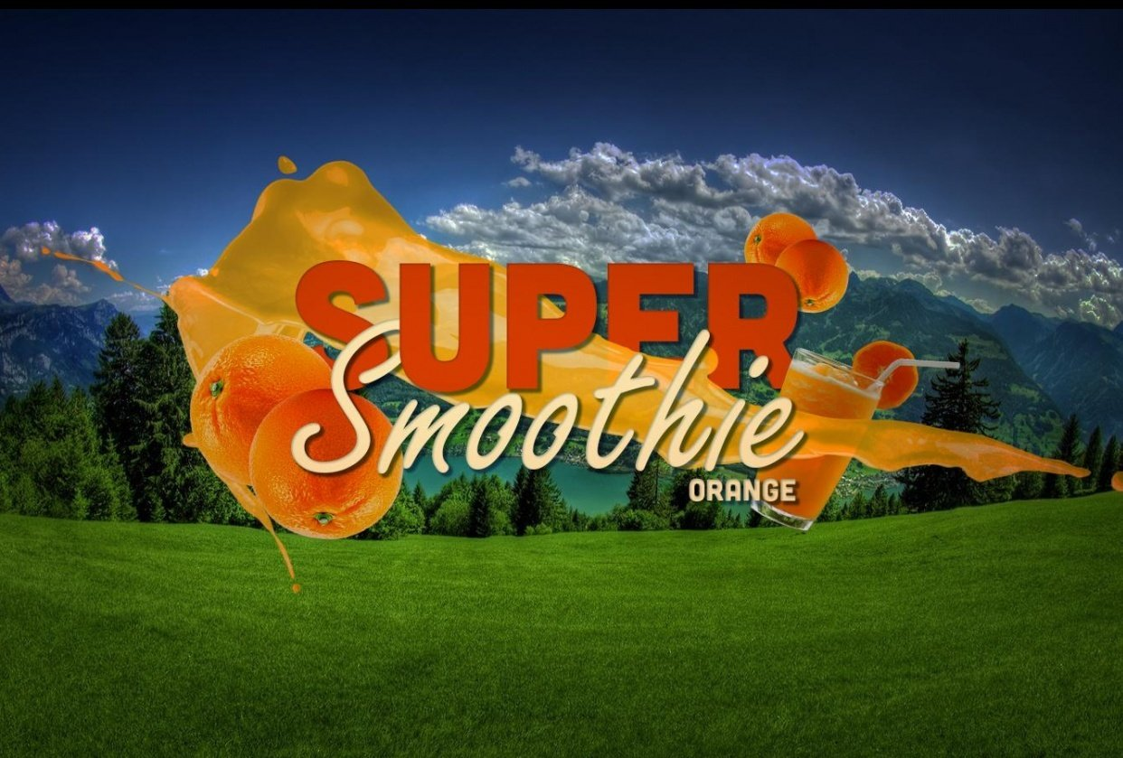 Orange smoothie - student project