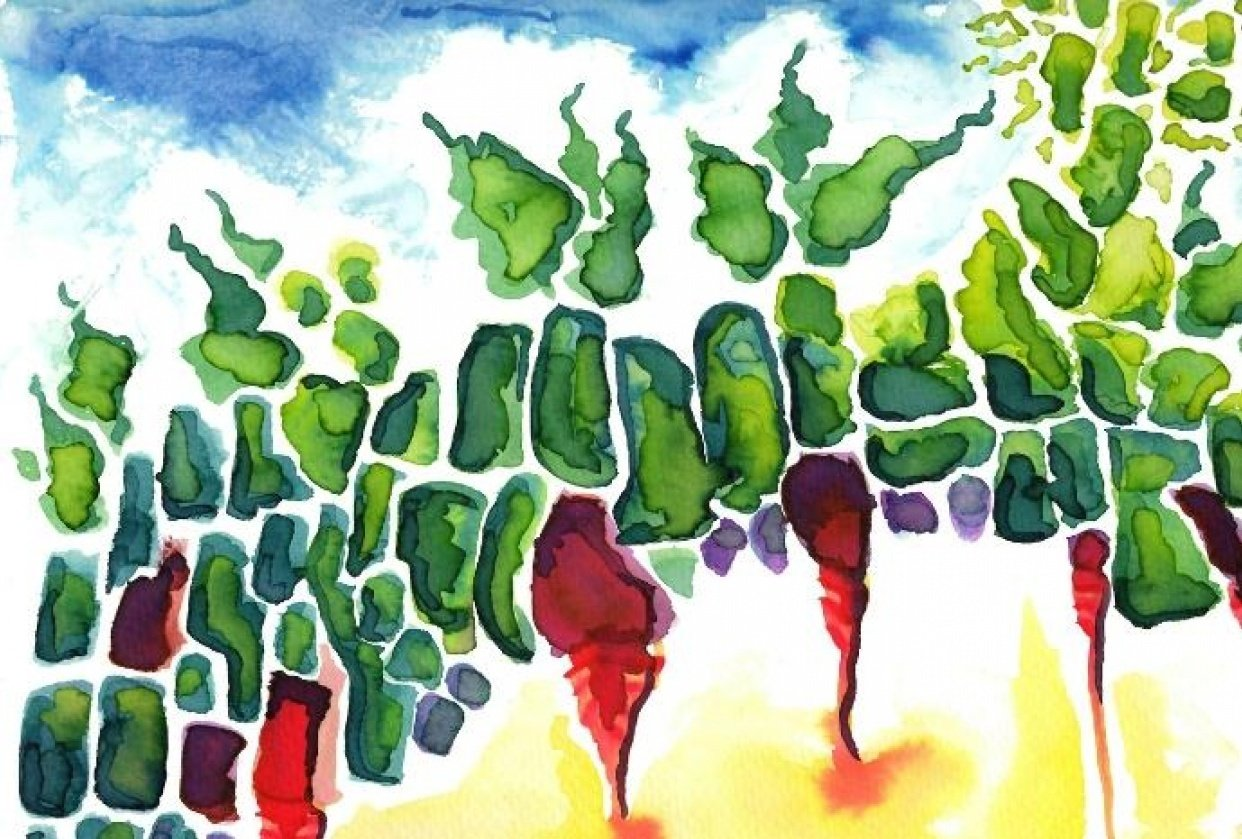 Abstract Veggie Garden - student project