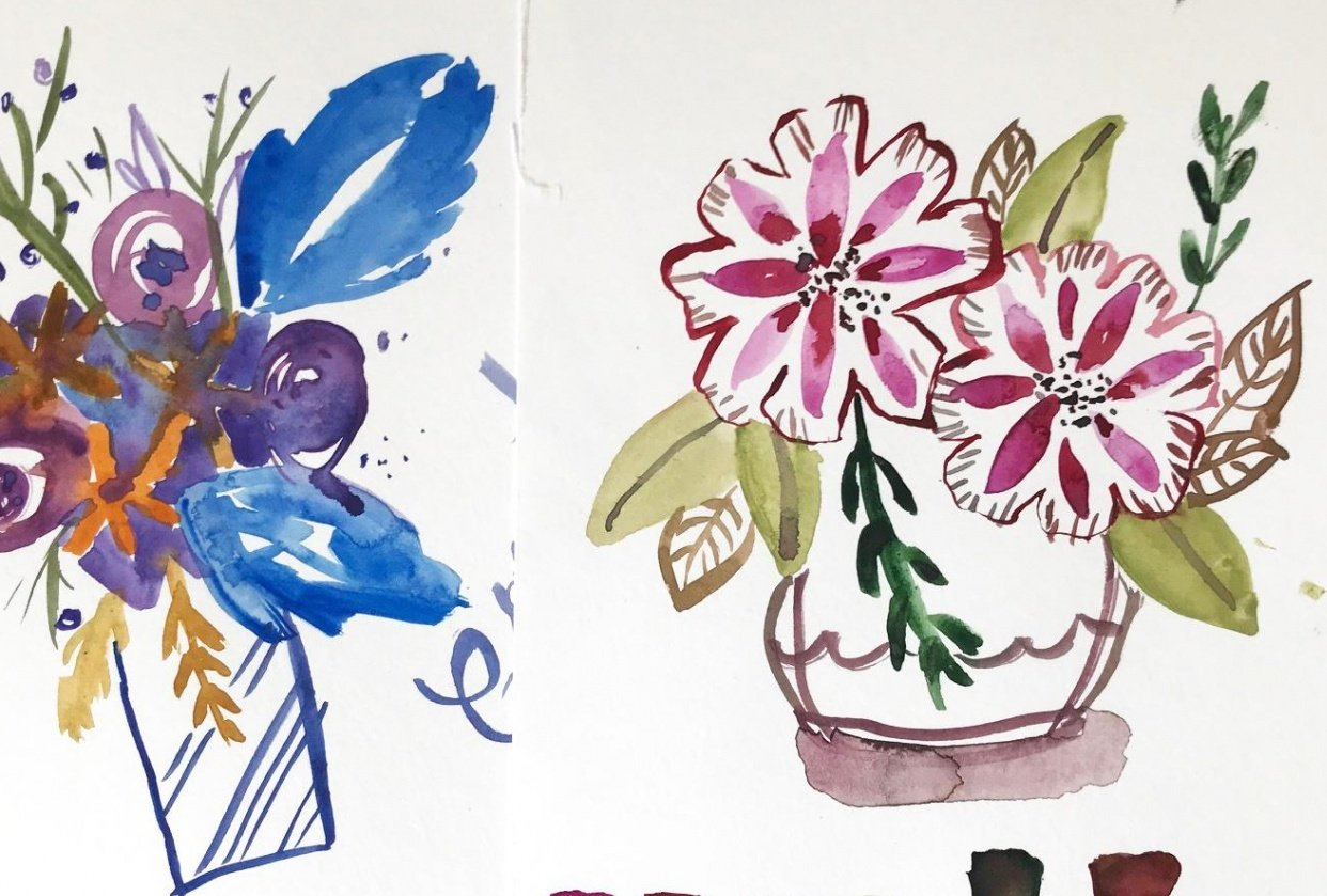 Summerflowers & Wintertrees - student project