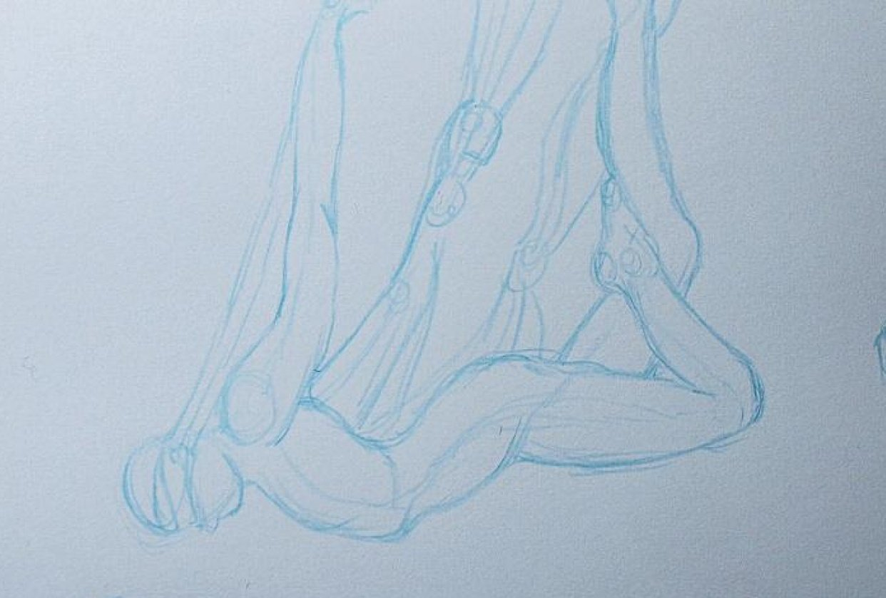 Trying my hand at gesture drawing - student project