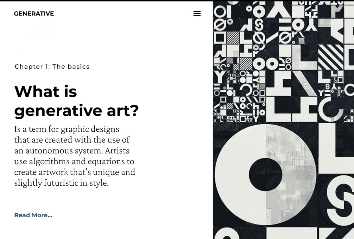 Generative art blog - student project