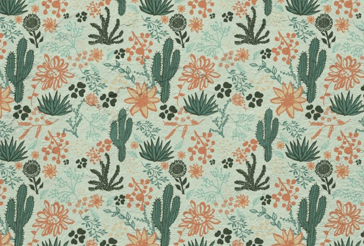 Foliage Repeat Pattern - student project