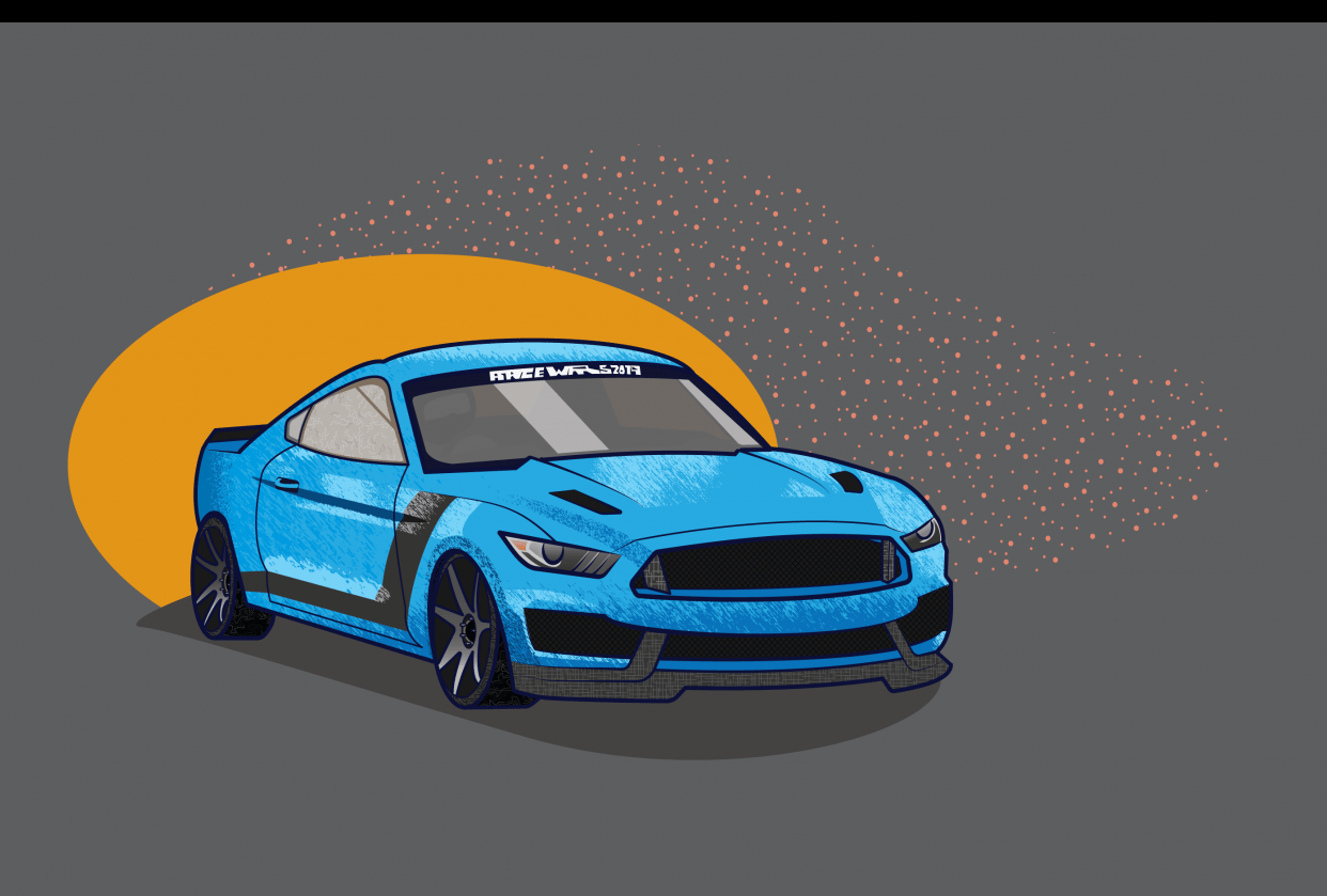 My Dad's Mustang - student project
