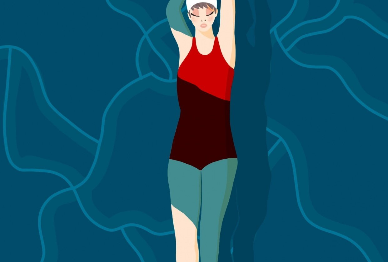 Swimmer Girl - student project