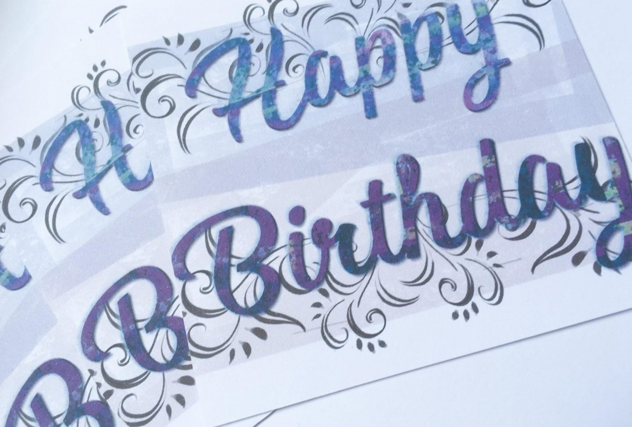 A sparkling birthday card and a few more ideas - student project