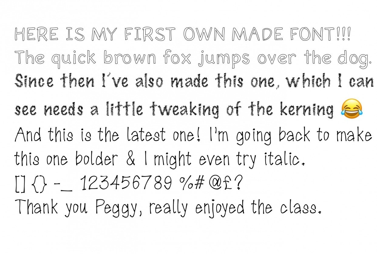 Font making - student project