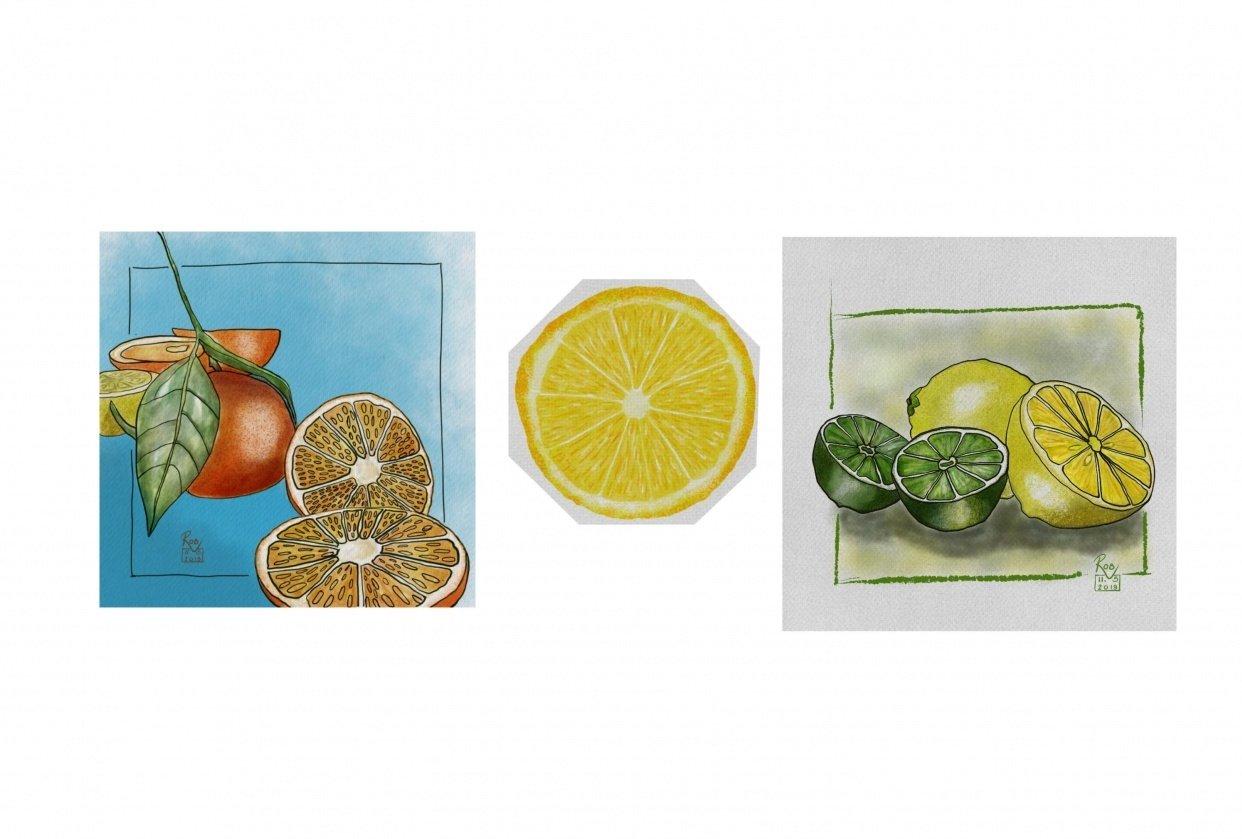 Watercolour Fruit #1 - student project