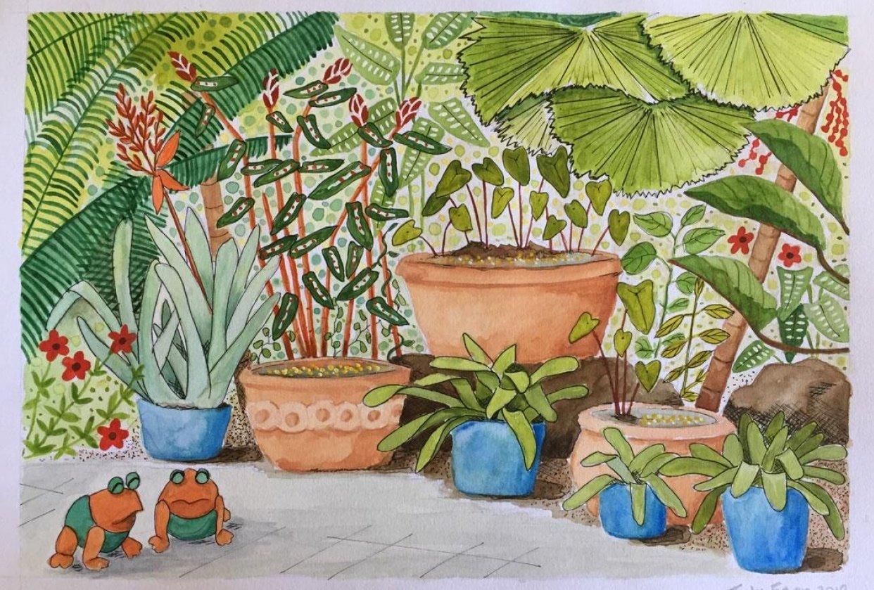 My Gouache Garden - student project