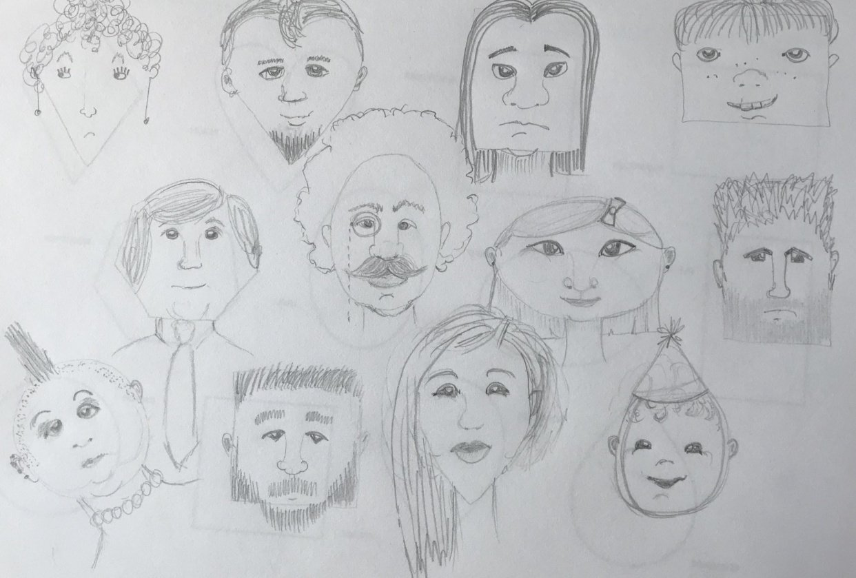 Face Shapes - student project