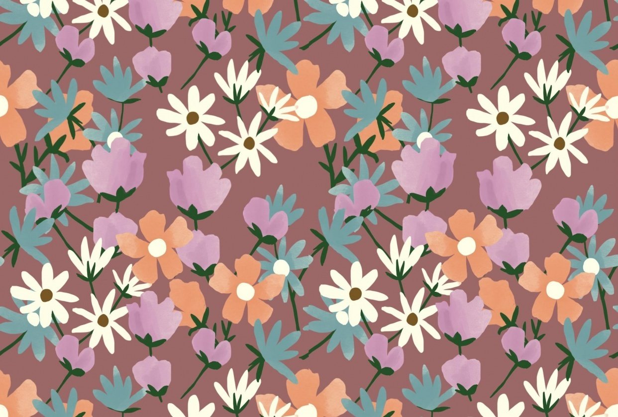 Repeating Floral Pattern - student project