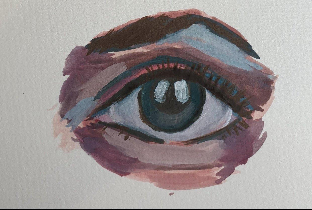 Gouache eye - student project