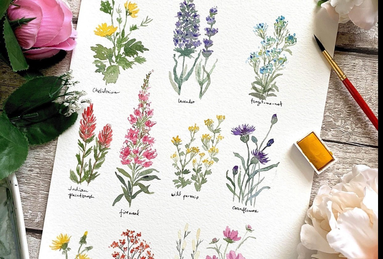 Pretty Little Wildflowers - student project