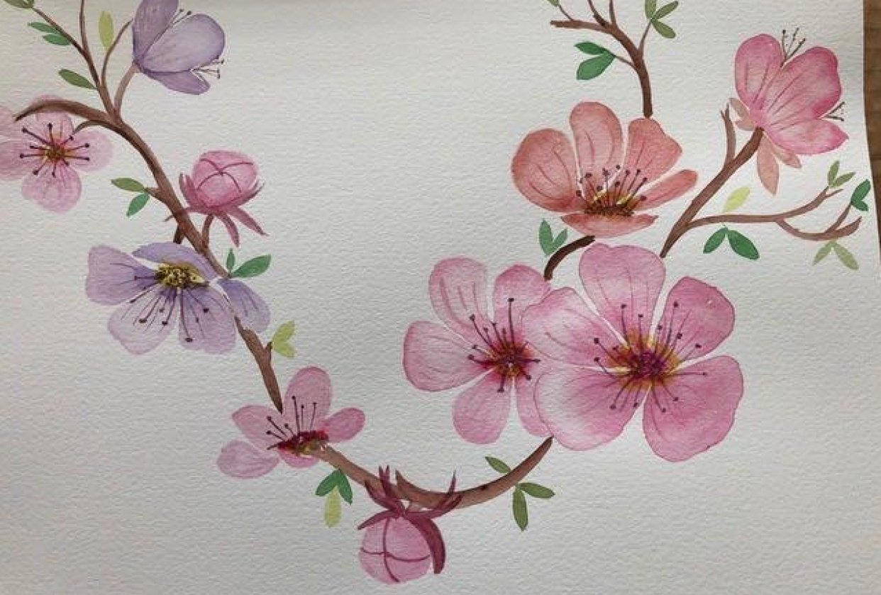 Cherry Blossoms #1 - student project