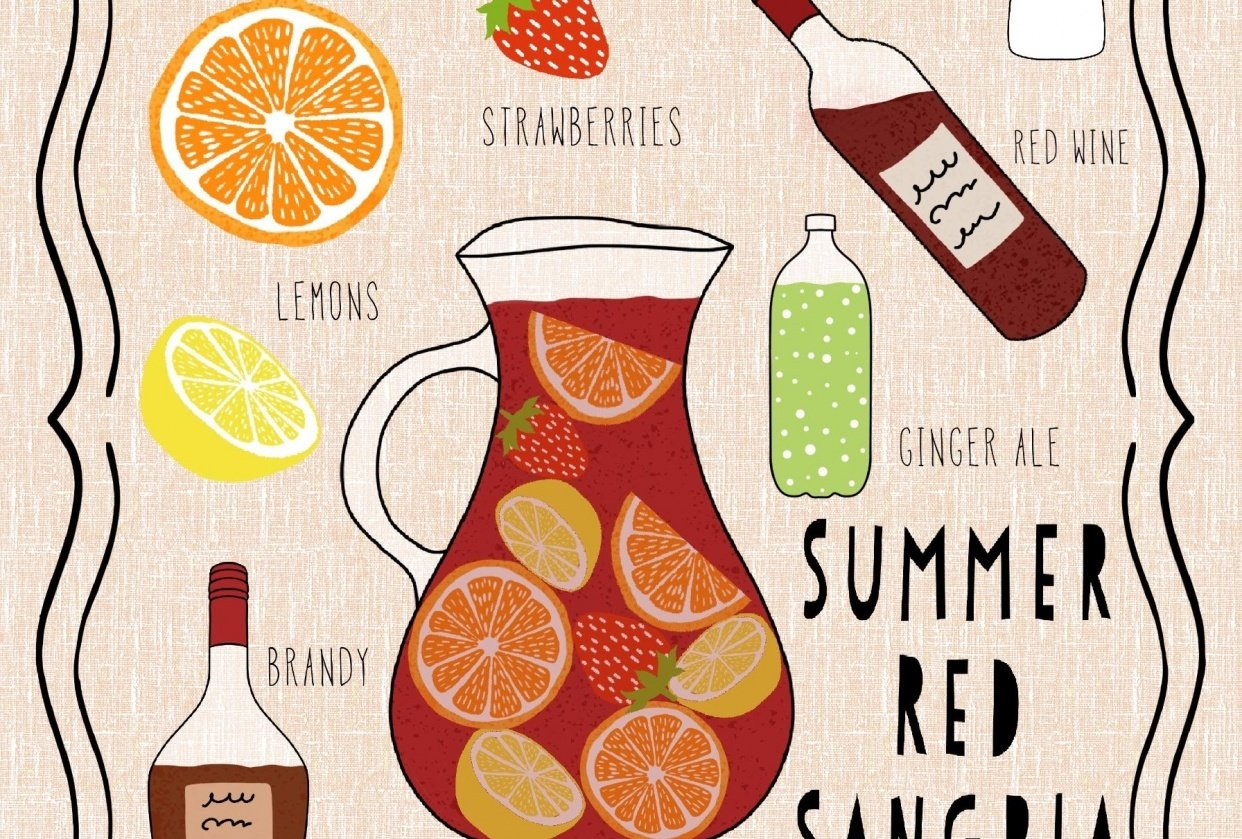 Summer Red Sangria - student project