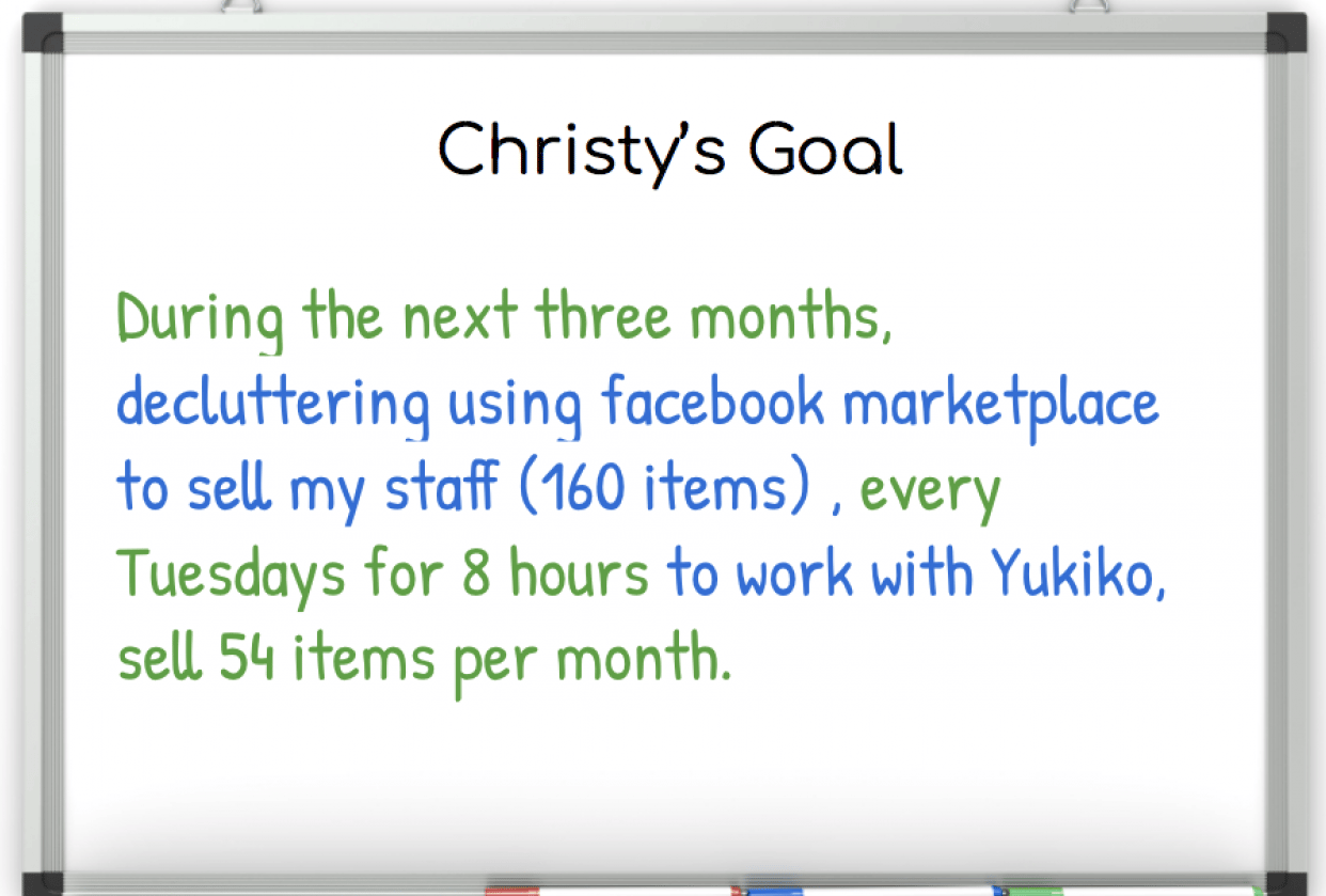 Christy's Decluttering Goal - student project