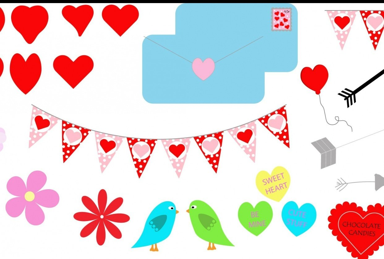 Valentine's Clipart - student project