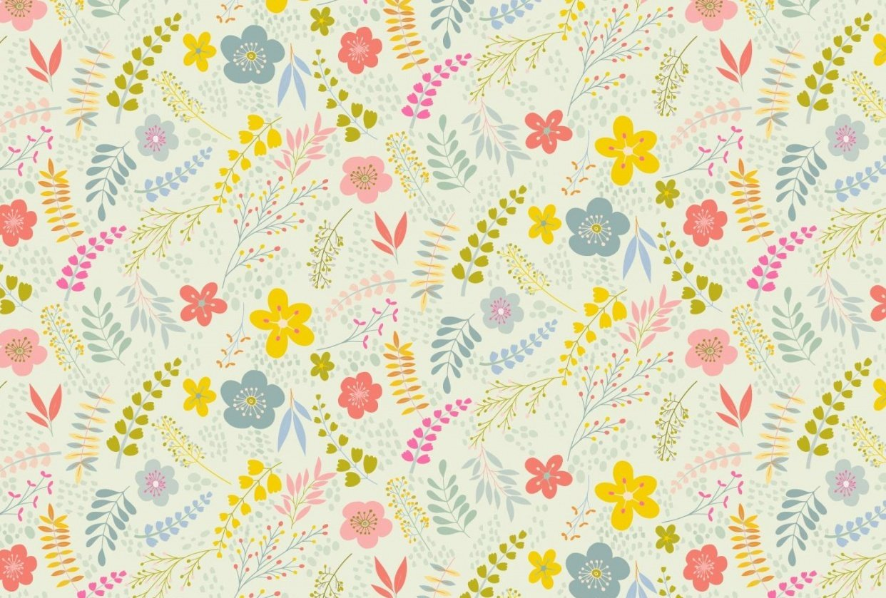 Floral and Butterfly Patterns - student project